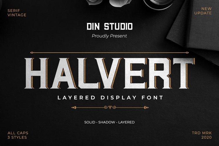 Halvert-Layered Display Font example image 1
