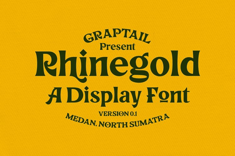 Rhinegold - Display Font