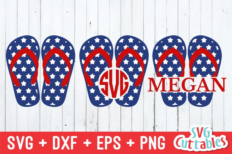 Flip Flops SVG   Patriotic Flip Flops   Fourth of July example image 1