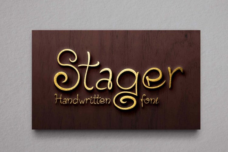 Stager Font example image 1
