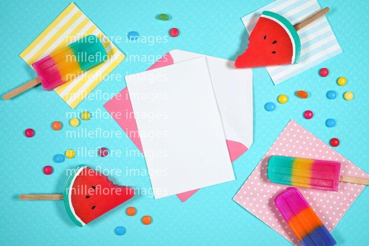 Summer Theme Party Invitation SVG Craft Mockup Styled Photo