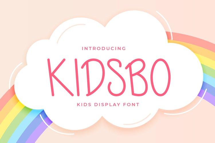 Kidsbo - Kids Display Font example image 1