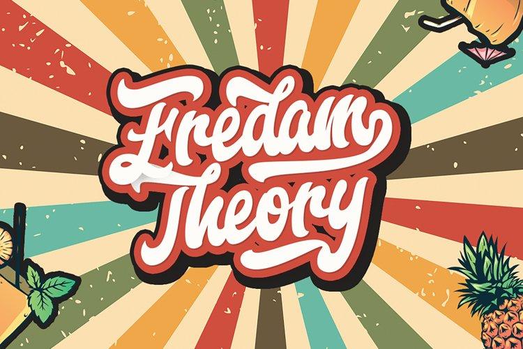 Fredam Theory - Retro Bold Script Font example image 1