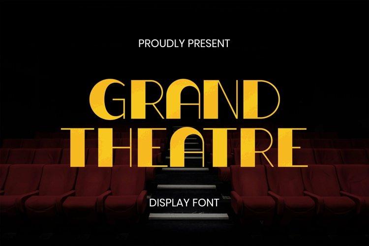 Web Font Grand Theatre Font example image 1