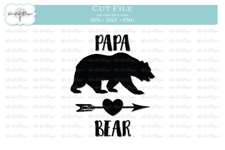 Papa Bear SVG DXF PNG