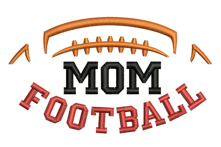 Football Mom machine embroidery designs