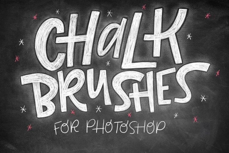Realistic Photoshop Chalk Brushes! example image 1