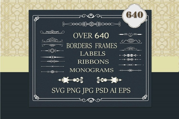 Borders SVG. Banners SVG. Ribbons SVG, Borders and Frames,