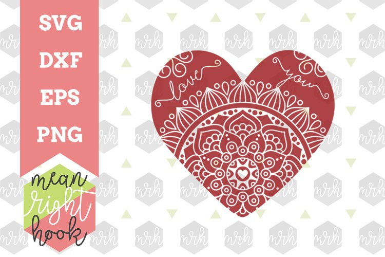 Download Heart Mandala Design Svg Eps Dxf Png Vector Files For Cutting Machines Like The Cricut Explore Silhouette 69696 Svgs Design Bundles