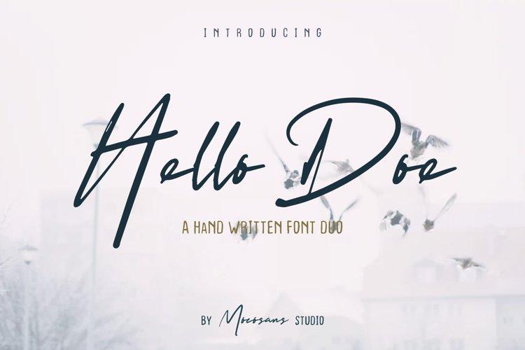 Hello Doe - Handwritten Font Duo example image 1