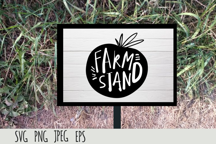 Farmers Market SVG cut file| Farm stand example image 1