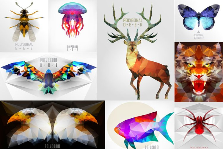 Abstract polygonal animals example image 1