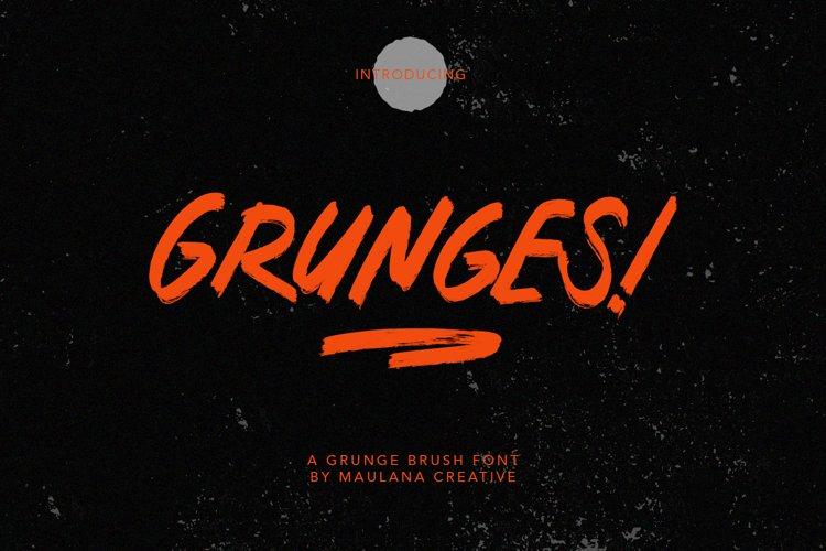 Grunges Grunge Brush Font example image 1