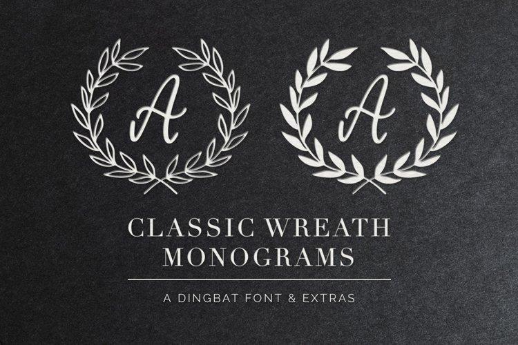 Classic Wreath Monograms Dingbat Font