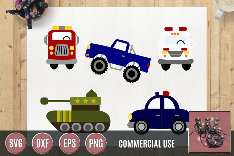 Whimsical Hero Vehicles SVG DXF PNG EPS Comm example image 1