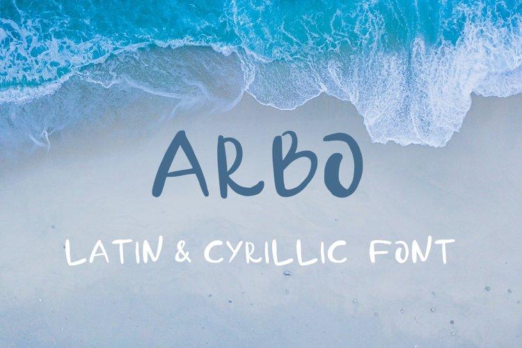 Arbo - handwritten font