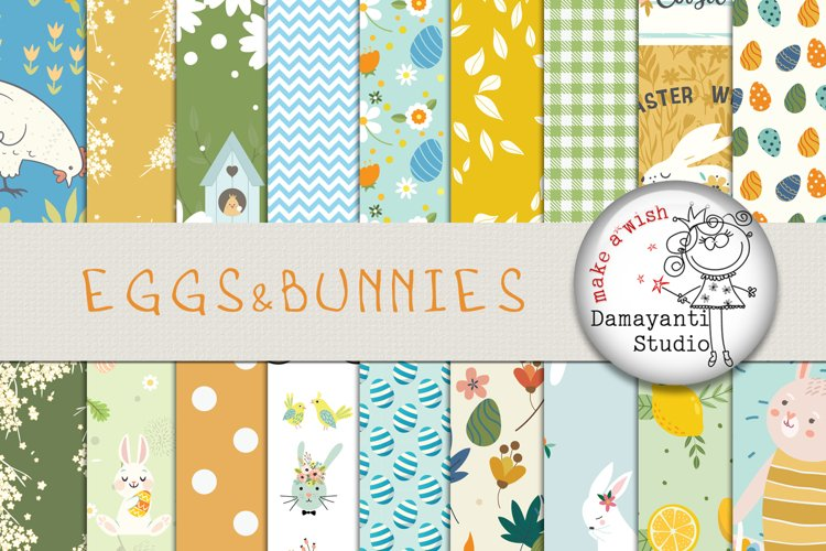Eggs&Bunnies, Easter, Spring, Planner stickers