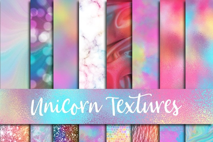 Unicorn Textures Digital Paper - Free Design of The Week Font