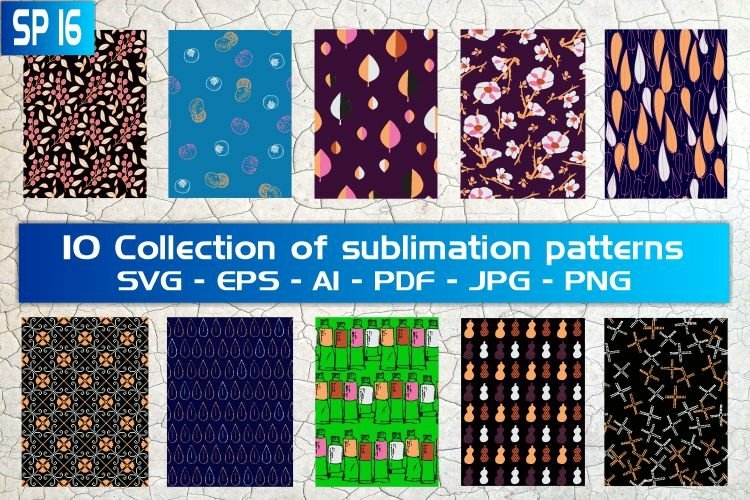 SP16, 10 Collection of sublimation patterns