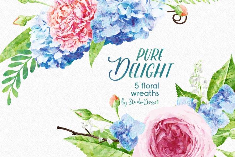 FlowerWreaths Watercolor Illustrations example 2