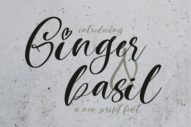 Ginger & Basil Script Font example image 1