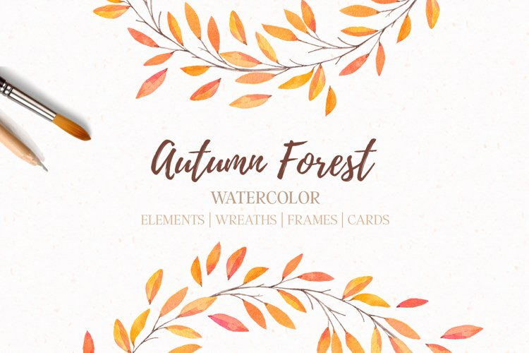 Autumn forest   Watercolor   Fall example image 1
