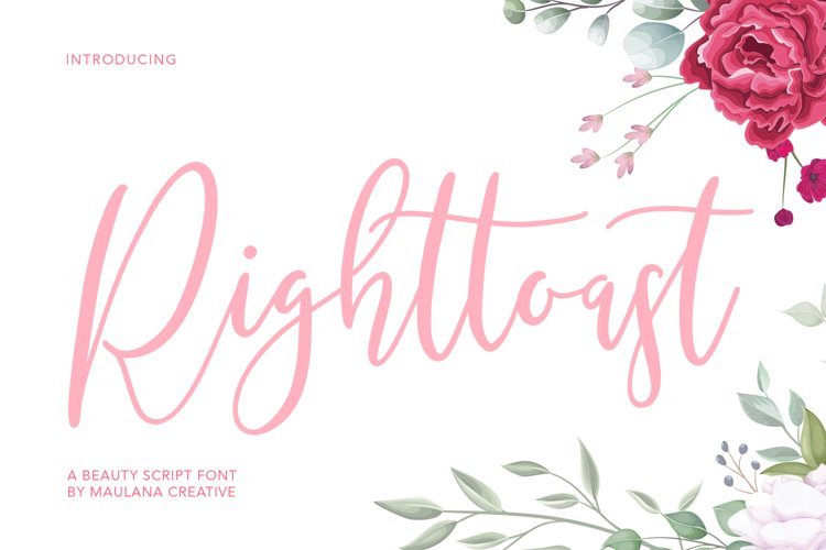 Righttoast Beauty Script Font example image 1