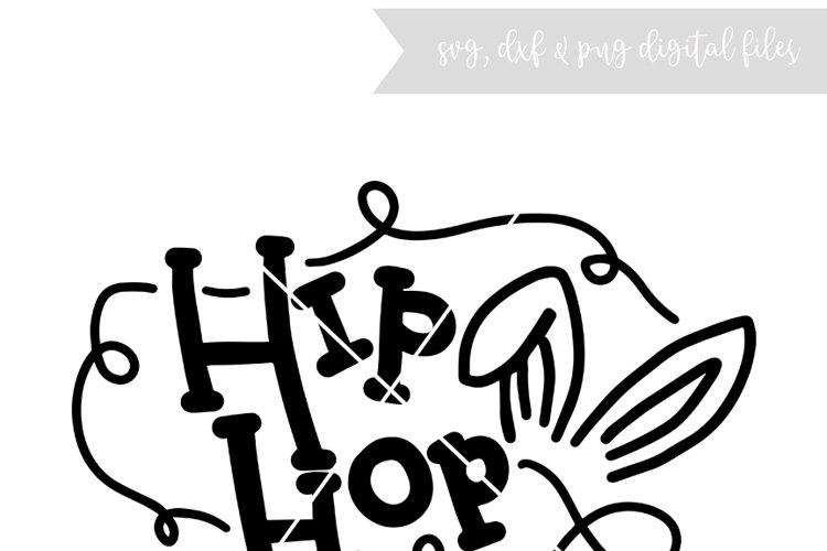Hip Hop bunny hand lettered file - (SVG DXF PNG)