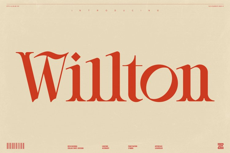 Willton - Multipurpose Display Font example image 1