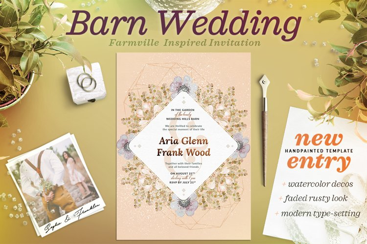 Faded Wedding at the Barn Card III example image 1