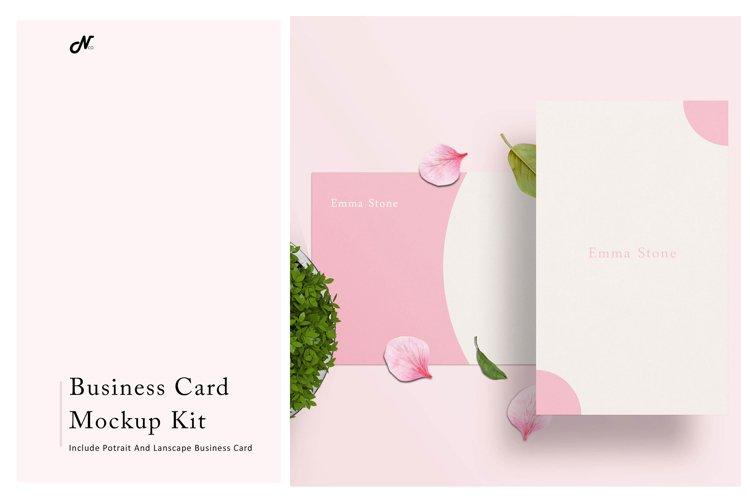 BUSINESS CARD MOCKUP KIT example image 1
