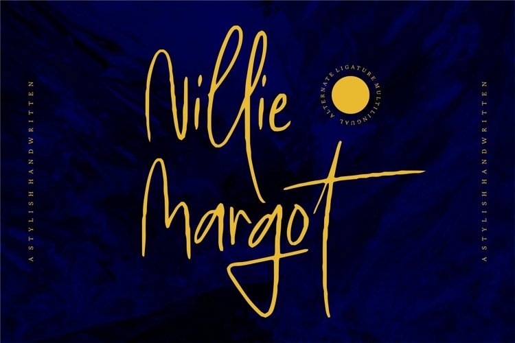Web Font Nillie Margot - Stylish Handwritten example image 1