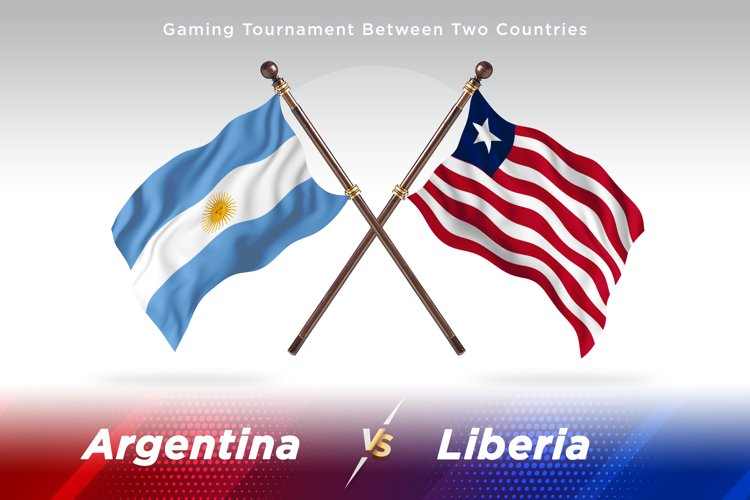 Argentina vs Liberia Two Flags example image 1