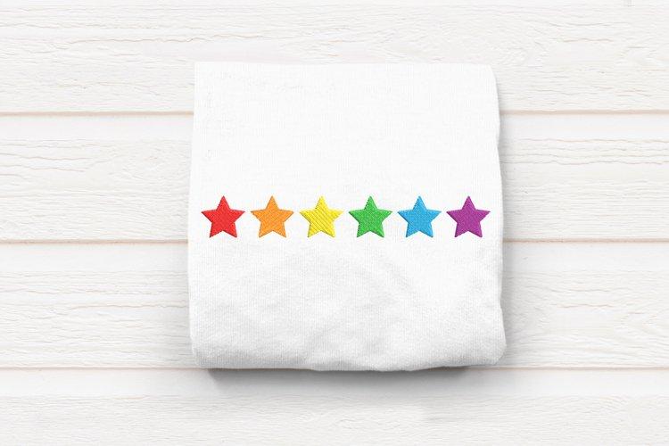 Horizontal Row of Stars Embroidery Design