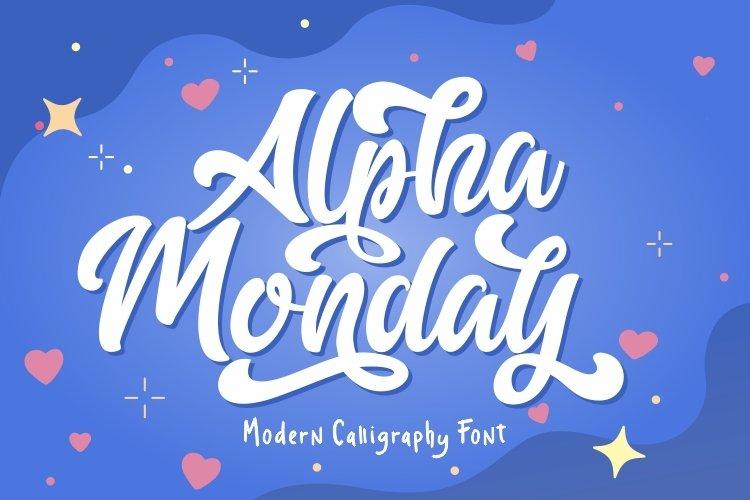 Alpha Monday example image 1