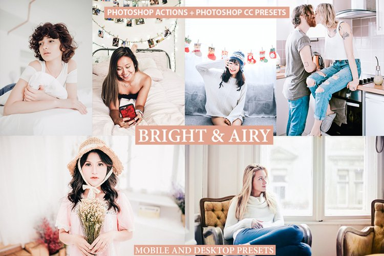 Photoshop Actions ACR Presets lightroom presets Bright Airy