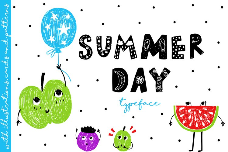 Summer Day Typeface with Clipart! example image 1