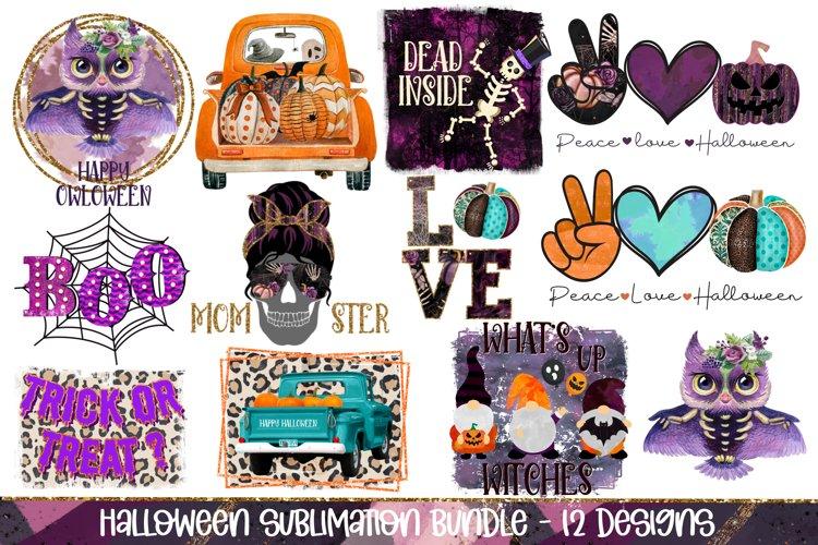 Halloween Sublimation Bundle Designs, 12 Halloween PNG
