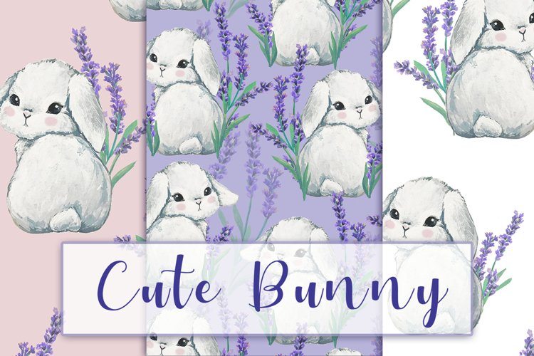 Bunny and lavender flower Patterns