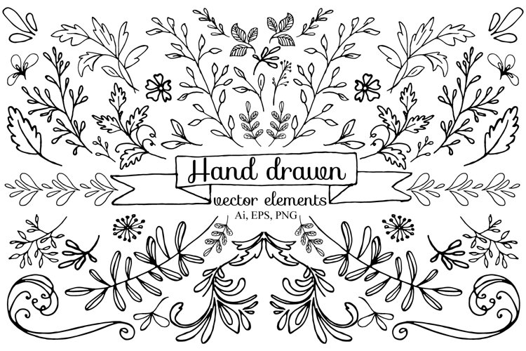 Hand drawn vector elements example image 1