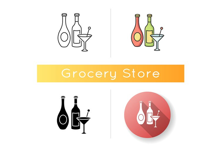 Wine and spirits icon example image 1