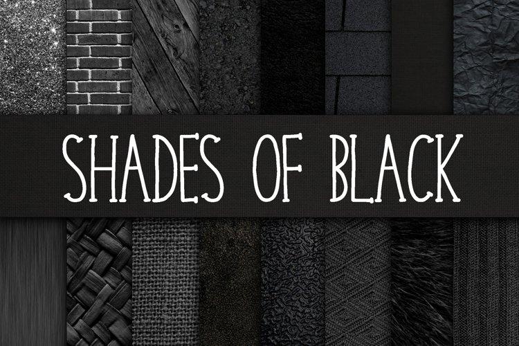 Shades of Black Digital Paper Textures