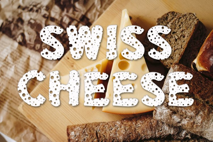 Swiss Cheese - Foodie Farmhouse Font example image 1