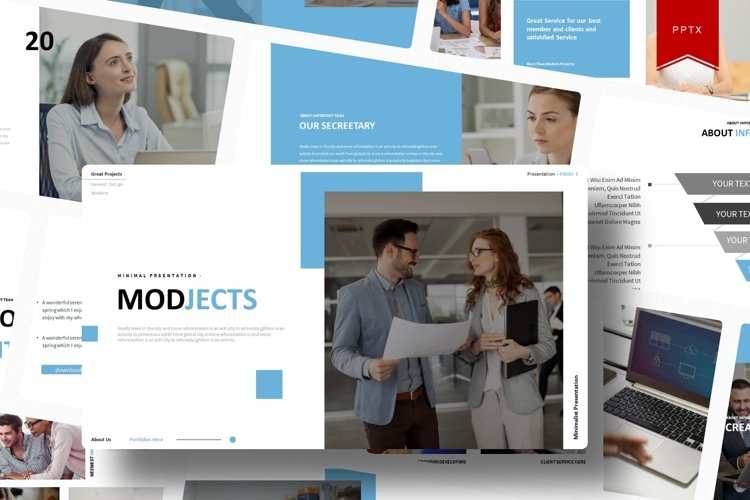 Modjects   Powerpoint Template example image 1