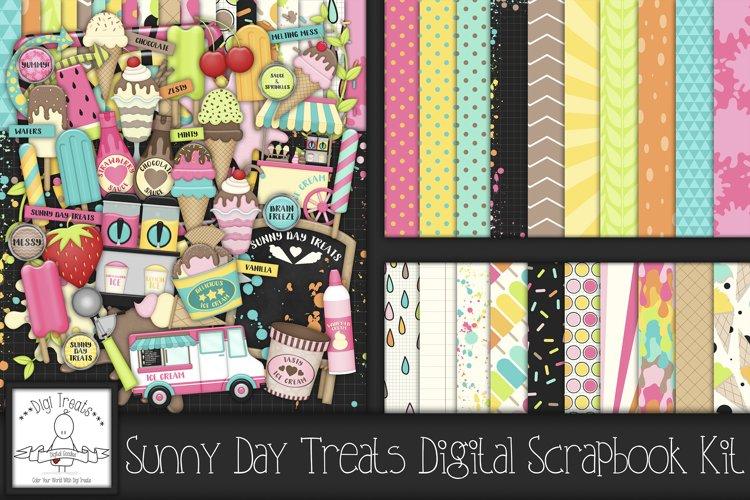 Sunny Day Treats Digital Scrapbook Kit.