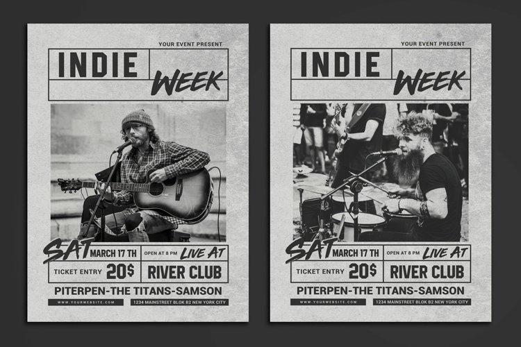 Indie Week Flyer example image 1