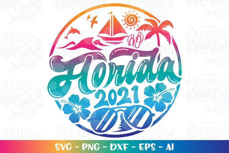 Summer svg Beach svg Floriday Vacation Palm trees 2021