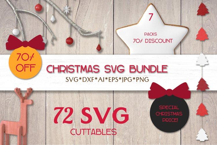 Christmas SVG Bundle | Christmas Silhouettes | Laser Cricut example image 1