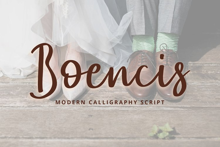 Boencis Modern Calligraphy Font example image 1