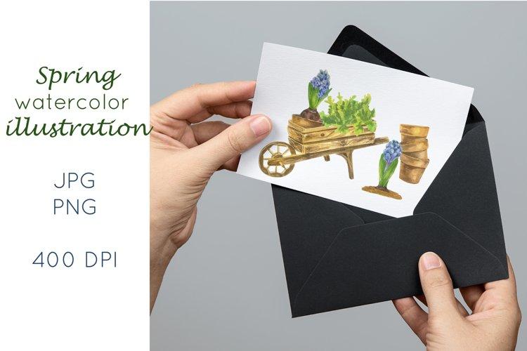 Gardening watercolour sublimation